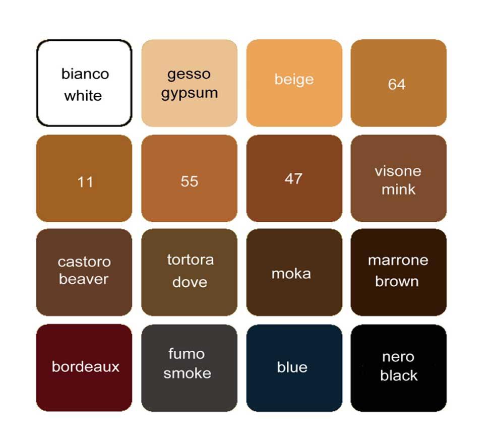 Calze Elastiche preventive, tabella colori, Laboratori Piazza