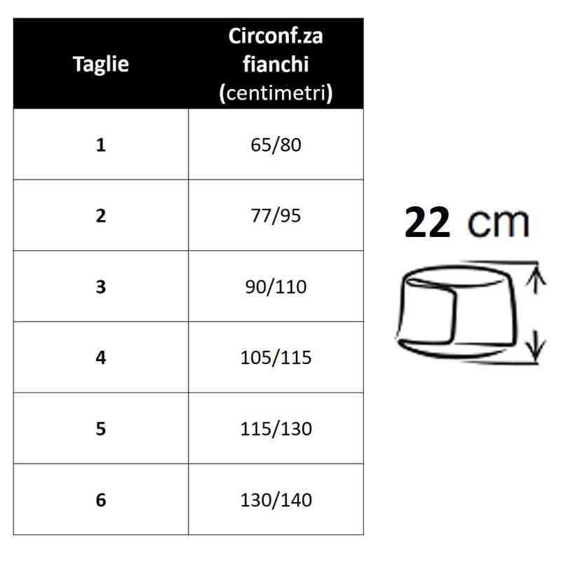 tabella misure pancera 674 h22