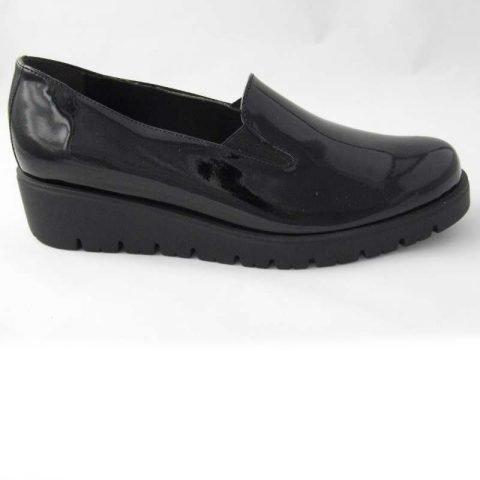 scarpe comode cinzia soft nero lucido IR48415SE-ev 10
