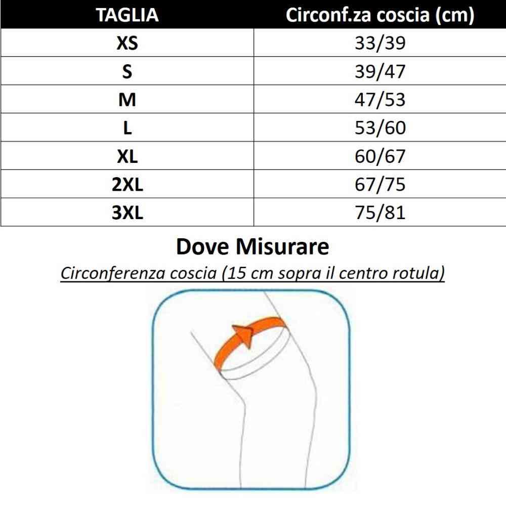 tabella misure aircast ginocchio