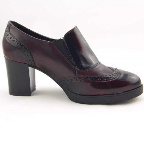 scarpe comode con tacco cinzia soft ial25931psb bordeaux
