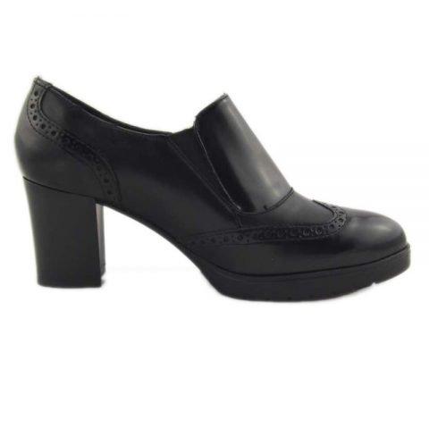 scarpe comode con tacco cinzia soft ial25931psb nero 3
