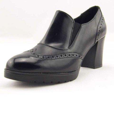 scarpe comode con tacco cinzia soft ial25931psb nero