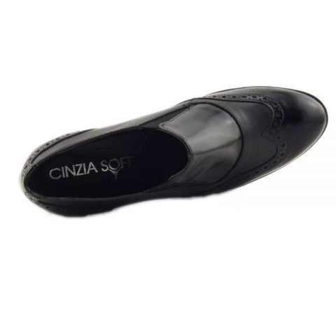 scarpe comode con tacco cinzia soft ial25931psb nero 5