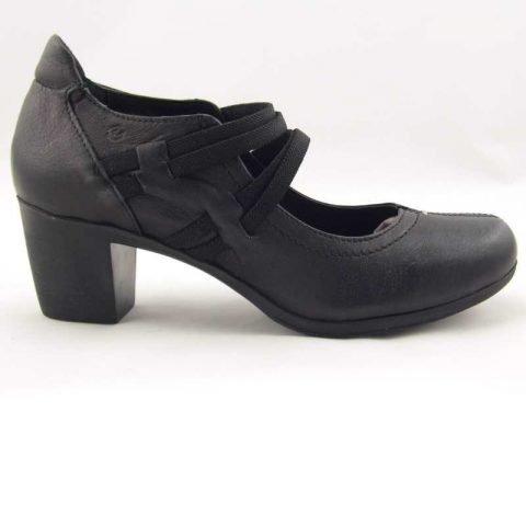 scarpe comode con tacco cinzia soft ibe1117 nero 5