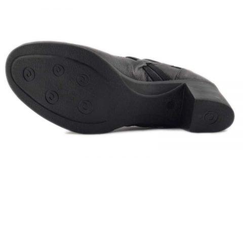 scarpe comode con tacco cinzia soft ibe1117 nero suola