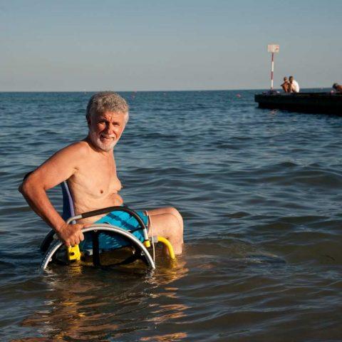 CARROZZINA PER DISABILI DA MARE SAND AND SEA OFFCARR 2