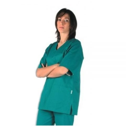 ABBIGLIAMENTO SANITARIO CASACCA MEDICO INFERMIERE UNISEX GIMA 26142 verde